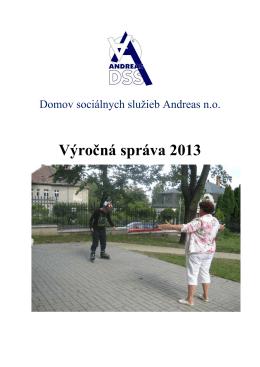 Výročná správa 2013 - Autistické centrum Andreas no