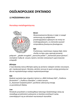 tekst dyktanda 2014