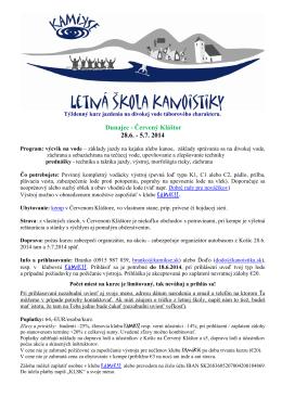 KLSK_2014- propozície na stiahnutie