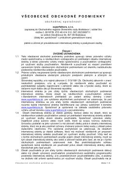 Prečítaje si úplné znenie obchodných podmienok (PDF)