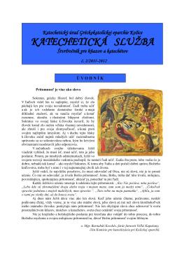 KATECHETICKÁ SLUŽBA
