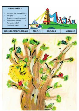 Druhé číslo školského časopisu Maják