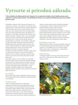 Vytvorte si prírodnú záhradu