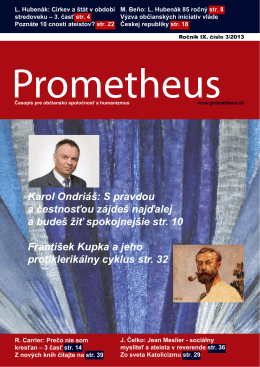 Prometheus 3/2013 Stiahnite si (pdf)