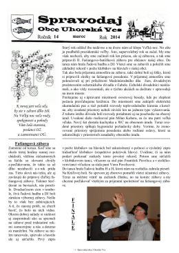 Spravodaj č. 01/2014