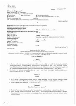Hromadná licenčná zmluva o použití diel autorov