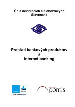 Prehľad bankových produktov a internetbanking, .pdf, 446kB