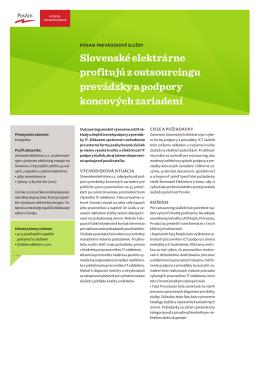 PosAm Prevádzkové IT služby v SE
