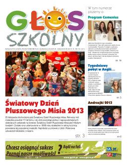 Pobierz>>> Głos Szkolny, wydany 16 grudnia 2013r.