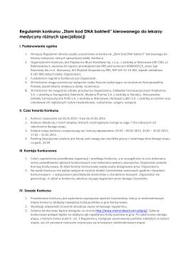 Regulamin konkursu - metronidazol.com.pl