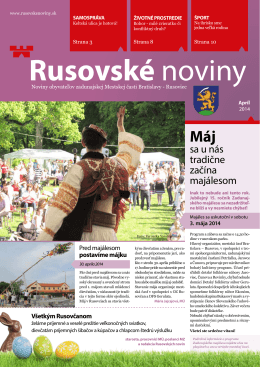 pdf verzia - Rusovské noviny