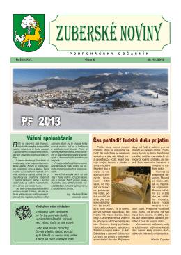 Zuberské noviny 5/2012 Formát PDF