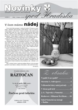 Obecné noviny 1/2008
