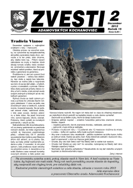 Obecné noviny - Adamovské Kochanovce