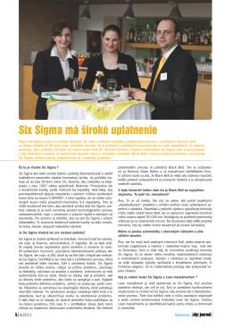 Six Sigma má široké uplatnenie