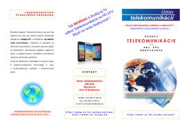 TELEKOMUNIKÁCIE - Ústav telekomunikácií