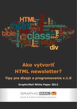 Ako vytvoriť HTML newsletter?