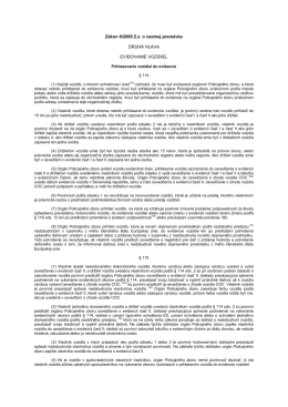 Evidencia vozidiel a zmeny v evidencii vozidiel