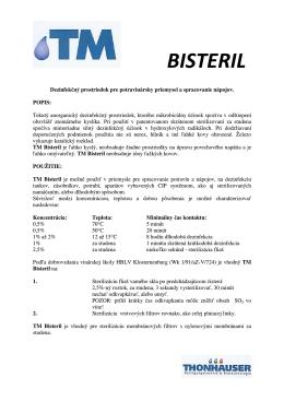 TM BISTERIL - Sanitacia.sk