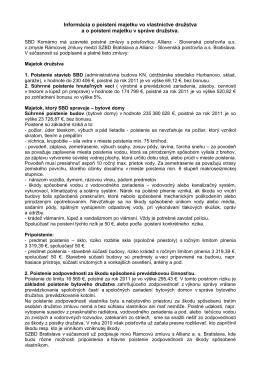 Informácia o poistení - Stavebné bytové družstvo Komárno