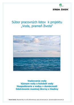 Súbor pracovných listov_Voda, pramen zivota