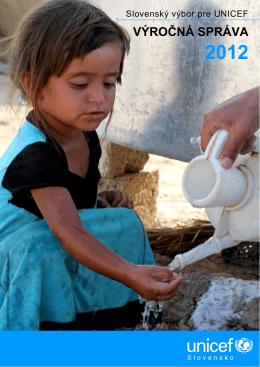 Výročná správa UNICEF Slovensko za rok 2012
