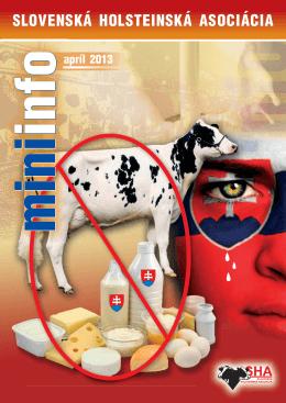 MiniInfo 04/2013- Slovenská holsteinská asociácia
