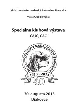 30. 8. 2013, Diakovce (PDF) Special Club Show