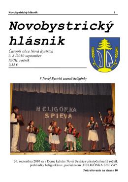 Novobystrický hlásnik 08 (september)