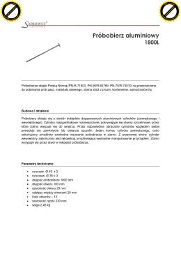 Próbobierz aluminiowy 1800 mm