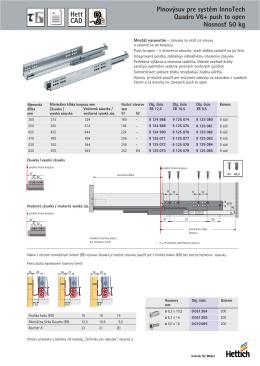Plnovýsuv pre systém InnoTech Quadro V6+ push to open