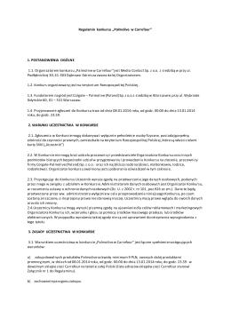 regulamin projektu ekologicznego o nazwie: stań po zielonej stronie