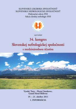 34. kongres Slovenskej nefrologickej spoloănosti