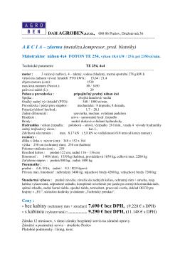 A K C I A – zdarma (metalíza,kompresor, pred. blatníky)