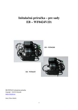 Inštalačná príručka – pre sady EB – WF0424V(D)