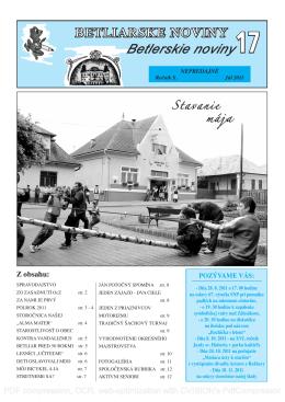 Betliarske noviny č. 17 (2011)