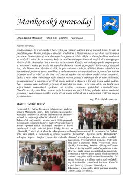 Marikovský spravodaj 2013-1