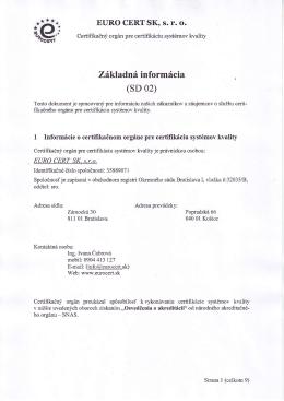 Základné informácie o certifikácii (pdf)