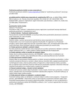 Podmienky anonymnej poradne a registrácie