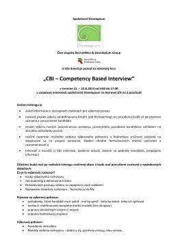 Pozvánka_Competency Based Interview_otvorený