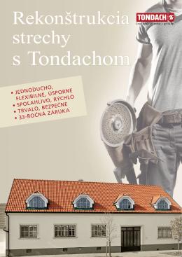 Rekonštrukcie striech Tondach
