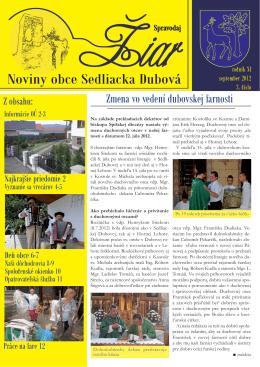 Prečítajte si Žiar 3/2012