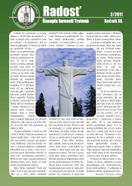 Farský časopis Radosť 2/2011
