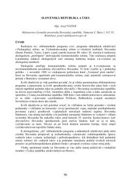 SLOVENSKÁ REPUBLIKA A ÚSES ÚVOD