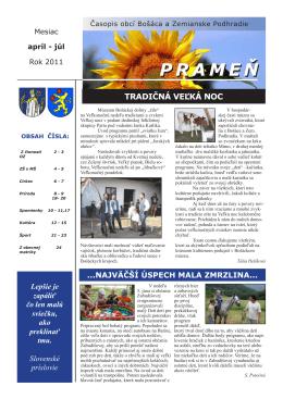Časopis Prameň august 2011 / 1,16 Mb pdf