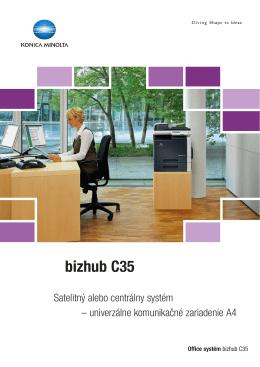 Prospekt k bizhub C35, PDF
