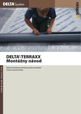 DELTA®-TERRAXX Montážny návod