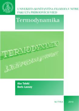 Termodynamika - Univerzita Konštantína Filozofa v Nitre