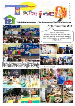 Nr 5(17) czerwiec 2014 - Szkoła Podstawowa nr 12 im. Powstańców