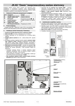 JK-82 Instrukcja Instalacji zestawu